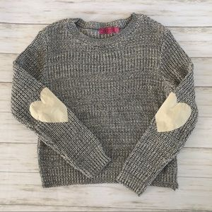 Boohoo Heart Elbow Patch Sweater